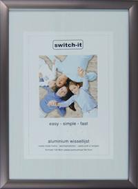 Fotolijst 100 X 50.Wissellijst 80 X 100cm Aluminium Switch It S Titaan Wissellijst